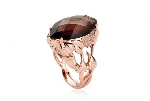 CLOGAU GOLD Ar Dan 9ct Rose Gold & Diamond Ring - Size M